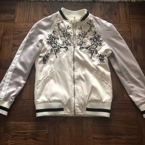 Two-tone Bomber with embellished details